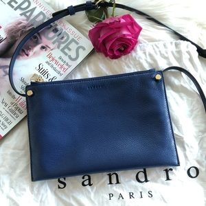 SANDRO Bianca Leather Cross-body
